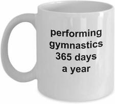 Gymnastics Novelty Gift Ideas Coffee Mug Cup Fitness Workout Exercise Gym Life S