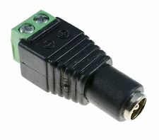 2.1mm Female Socket Jack DC Connector with Screw Terminals