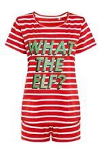 Next Red Striped Pyjamas Set Short Sleeve Top & Shorts 12