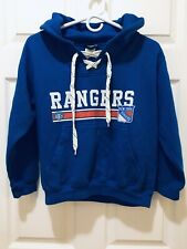 OLD TIME HOCKEY NEW YORK RANGERS LACER HEAVYWEIGHT HOODIE SWEATSHIRT SMALL BLUE