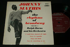JOHNNY MATHIS 1960 CORONET EP  RHYTHMS OF BROADWAY VOLUME 1