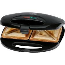 Clatronic ST 3477 - Sandwichera para 2 sandwiches, antiadherente, 750 W, negro