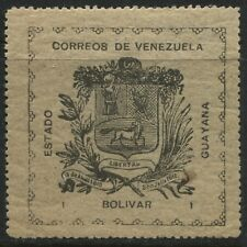 Venezuela  Guayana 1903 1 bolivar black on grey mint o.g. (JD)