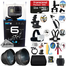 GoPro HERO6 Black 4K Ultra HD Camera + Wide Angle & Telephoto Lens -32GB Kit