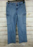 Tommy Hilfiger Womens Jeans Size 8 Cargo Bootcut Medium Wash Denim Style 285423