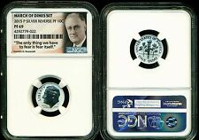 2015 P Silver Roosevelt Reverse Proof Dime Ngc Pf69 From March Of Dimes Set