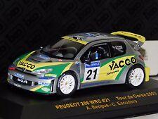 PEUGEOT 206 WRC YACCO #21 BENQUE / ESCUDERO TOUR DE CORSE  2003 IXO RAM131 1:43