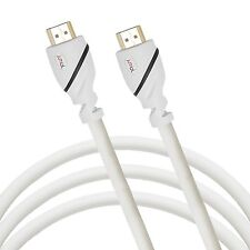 Jumbl High-Speed HDMI Cable 35 Ft Supports 3D Resolution, Ethernet - White