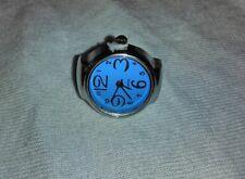 New Colorful Unisex Finger Ring Watch Steel Tone Round Dial Elastic Quartz