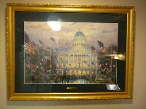 """Thomas Kinkade """"Flags Over the Capitol"""" LE, S/N"""