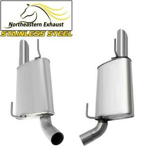 Left and Right Pair Stainless Steel Muffler fits: 2005 - 2010 Ford Mustang 4.6L
