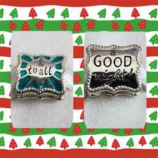 New Chamilia TO ALL A GOOD NIGHT Teal Enamel & Sterling Bead Set 4011-0749