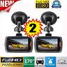 2 X Dashcam Car DVR Autokamera Full HD 1080p Nachtsicht Videos Bewegungssensor