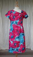 Michaela Louisa Dress Size UK 12 US 10 Blue Pink Floral NEW
