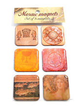 6 magnets featuring Byzantine Roman mosaics from around Israel Holy Land Gift