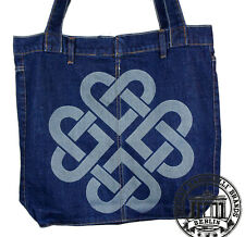 S06. CELTIC HEART Jeans Denim Shopping Bag Marionelli Tasche  Stofftasche Beutel