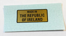 """Raleigh Grifter,Chopper bike frame """"MADE IN THE REPUBLIC OF IRELAND"""" Decal"""