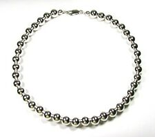Sterling Silver Bead (10 mm) Necklace 20""