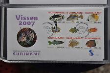 REP. SURINAME 2007 FDC E 305 TB FISH POISSON VISSEN  BLANK