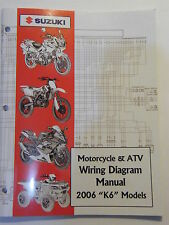New 2006 Suzuki Motorcycle & Atv Wiring Diagram K6 Models Manual