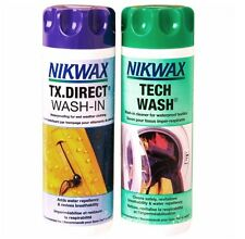2 X Nikwax impermeabilización Kit 600 Ml tx.direct Tech Wash Set de prueba de agua de la confección