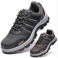 Men's Lightweight Slip Resistant Breathable Working Safty Boots No-slip Shoes