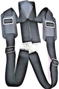 Heavy duty work braces suspenders loops - n/stretch motorcycle tall tool belt