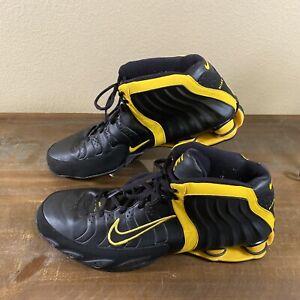 Mens Nike Shox Vintage Zoom Air Shoes Size 16 #050608LN4 Black Yellow High Top