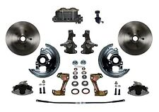 1964 - 72 Chevelle Manual 2 inch Drop Front Disc Brake Conversion Kit with valve