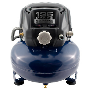 Campbell Hausfeld Pancake 6 Gallon Oil Free Portable Air Compressor (DC060000DI)