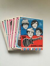 The Monkees rare cards set with wrapper 1967