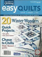Easy Quilts Magazine Winter Projects Home Gift Ideas Flannel Christmas Holiday