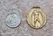 ANTIQUE GOLF FOB 1930s GOLFING Golfer MEDAL Vintage SPORTS Watch JEWELRY