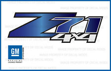 set 2: Z71 4x4 Chevy Silverado 07-13 Decals Stickers Fade Blue Sapphire GRSPHIRE