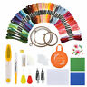 1 Set Full Range of Embroidery Starter Kit Cross Stitch Tool Thread Hoop Floss