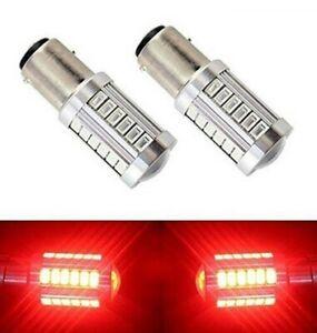 Ampoules BAY15D LED P21/5W Rouge 33 smd pour Frein stop 1157 voiture 4x4 2pcs
