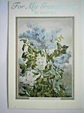 """Hallmark ~ """"FOR MY GRANDMOTHER AT EASTER"""" LILACS GREETING CARD + ENVELOPE"""