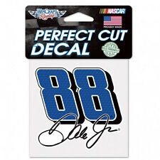 "DALE EARNHARDT JR. #88  4""X 4"" NASCAR PERFECT CUT COLOR DECAL"