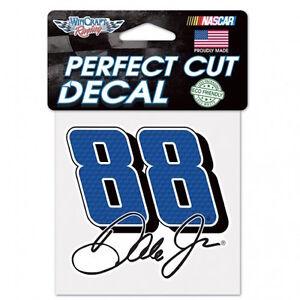 """DALE EARNHARDT JR. #88  4""""X 4"""" NASCAR PERFECT CUT COLOR DECAL"""