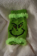 New dog sweater Christmas holiday handmade dog clothing Green cute pet clothes