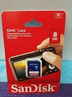 SanDisk SD Class 4 8GB, 32GB SDHC Flash Camera Memory Card