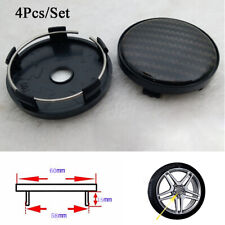 4Pcs 60mm/58mm Carbon Fiber Pattern Car Wheel Center Hub Caps Decorative Covers