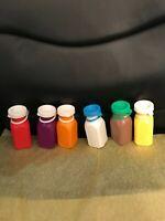 Fisher Price Milk Bottles Set Of 6-Mint Vintage