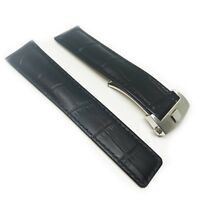 Dismay 22mm Watch Band Strap Alligator-Style Deployment Clasp Made For Tag Heuer