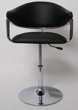 Chaise de séjour COMO, réglable en hauteur, simili-cuir, noir