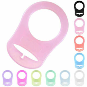 5Pcs Silicone Button Baby Dummy Pacifier Holder Clip For MAM Rings Replacement