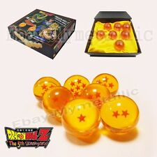 "7x JP Anime DragonBall Z Stars 5.7cm / 2.3"" Crystal Ball Set New In Box"