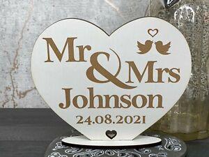 Personalised Mr & Mrs Valentines Day, Wedding, Anniversary, Birthday Stand Gift