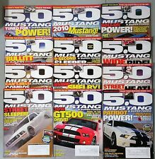 5.0 Mustage & Super Fords Magazine - Lot of 12 Issues From 2009 & 2010