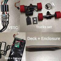 DIY Electric Longboard Skateboard Parts Trucks Deck Enclosure VESC BMS Battery